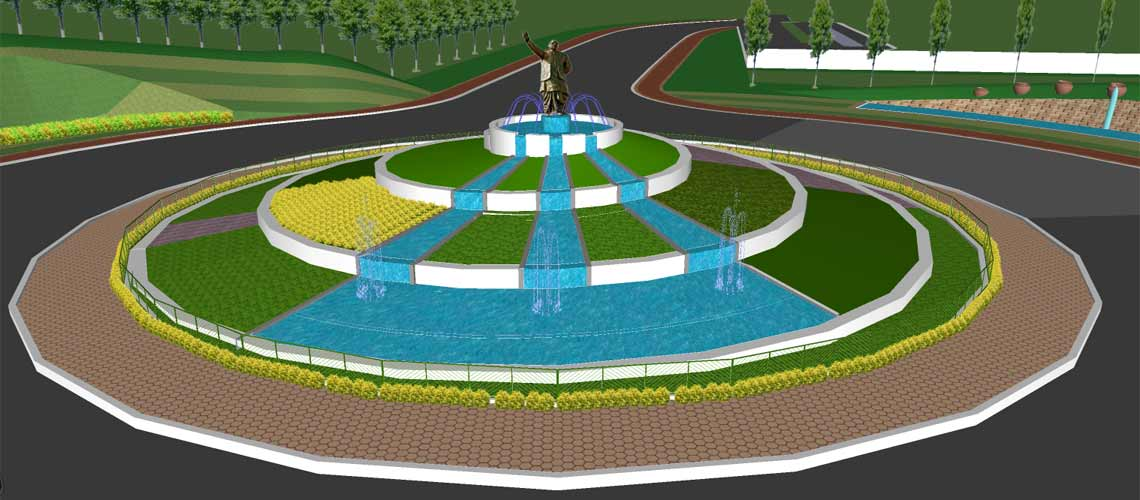 Biju patnaik airport road roundabout bhubaneswar l a for Architecture design for home in odisha